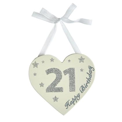 21st Birthday Glitter Heart