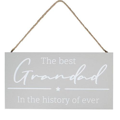 The Best Grandad Plaque