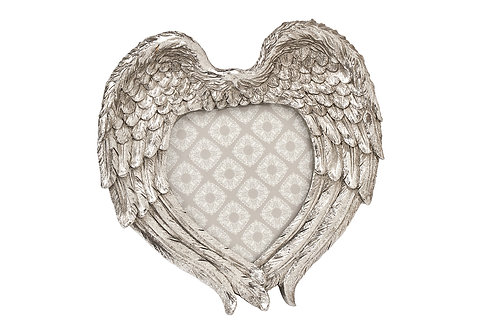 Vintage Silver Wings Photo Frame