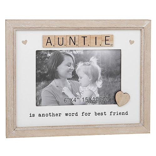 Auntie Sentiment Scrabble Photo Frame