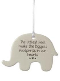 Elephant Ceramic Hanger - The Littlest Feet