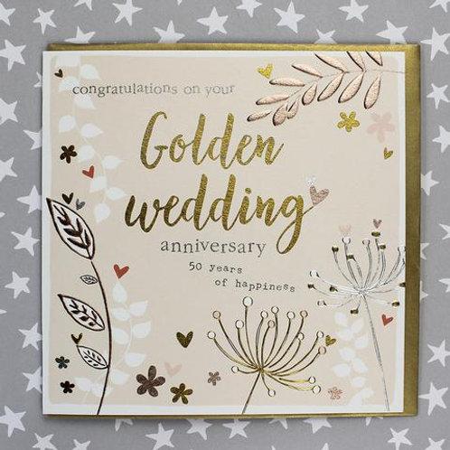 Golden Wedding Anniversary - 50th Anniversary Card