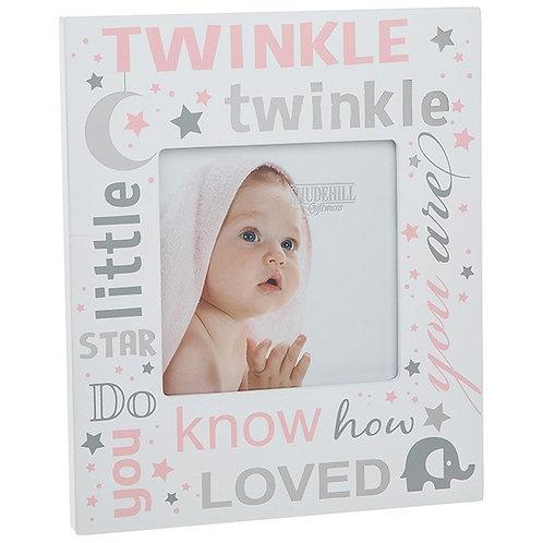 Twinkle Twinkle Little Star Frame - Pink