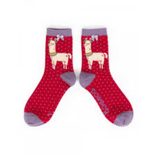 Powder UK - Llama Ankle  Bamboo Socks