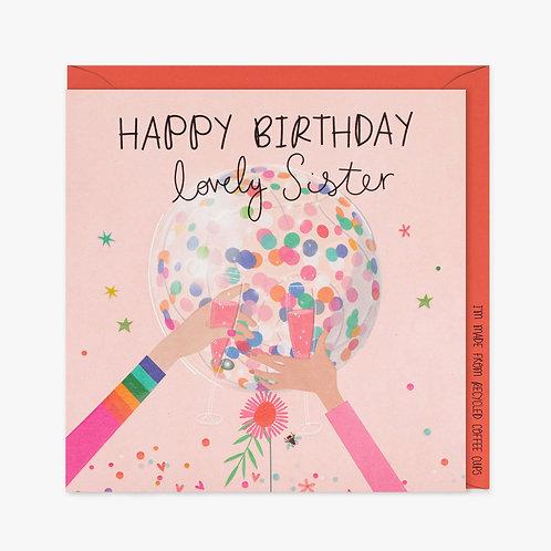 Lovely Sister - Birthday Card