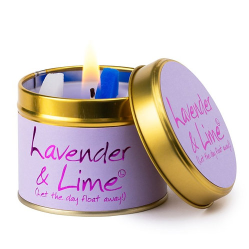 Lily Flame - Scented Tin Candle - Lavender & Lime