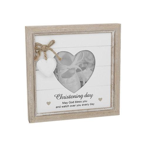 Christening - Provence Heart Frame