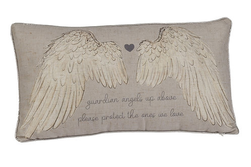 'Guardian Angels Up Above' Cushion