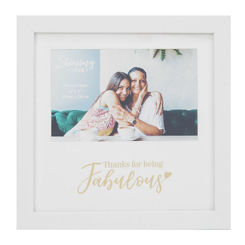 Thanks For Being Fabulous - Gold Foil Photo Frame
