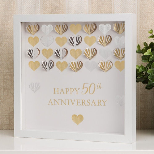 50th Anniversary - Framed Wall Plaque
