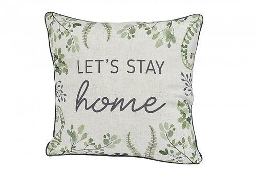 Botanical Leaf 'Home' Cushion