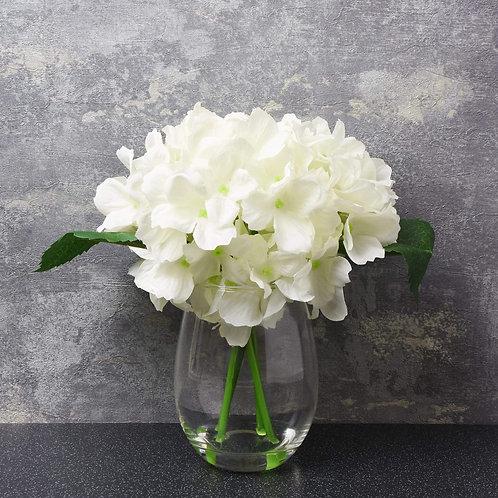 The Flower Patch - White Hydrangea In Vase