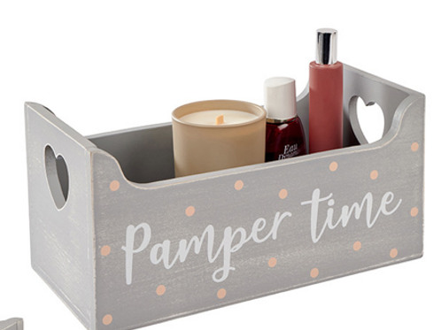 Grey 'Pamper Time' Crate