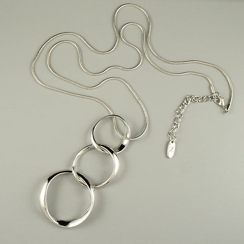 Mimosa - Long Silver Necklace