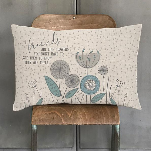 East Of India - Friends Are Like Flowers Cushion