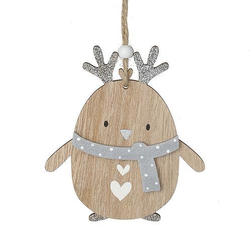 Wooden Penguin Hanger