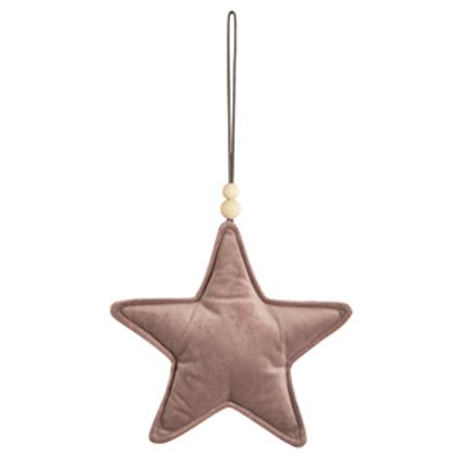 Pink Velvet Hanging Star