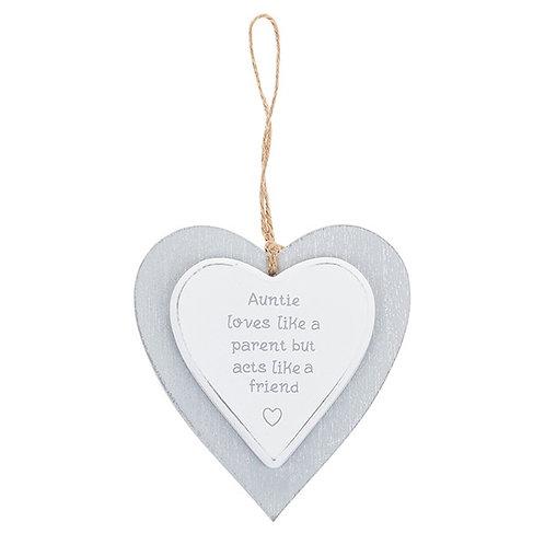 Auntie -Provence Grey Heart