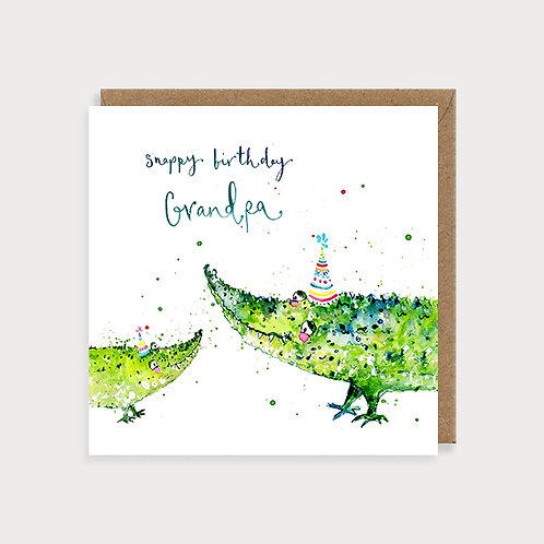 Snappy Birthday Grandpa - Birthday Card