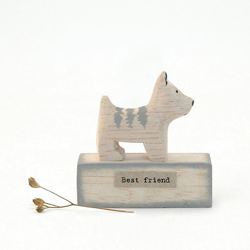 East Of India - Little Wooden Dog 'Best Friend'