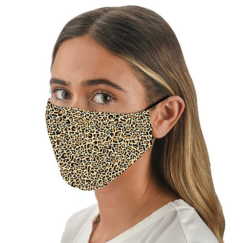 Snoozies Triple Layer Face Covering - Leopard Print