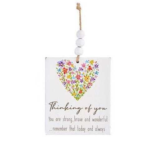 Wooden Hanging Decoration - Thinking Of You