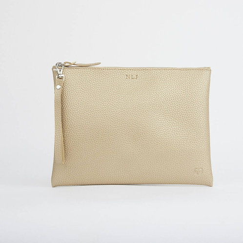 Peruvian Clutch Pouch - Vegan Friendly - Gold