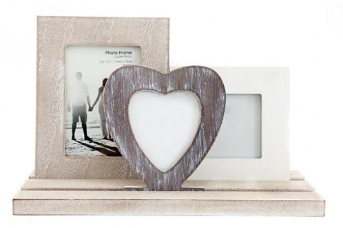 Triple Wood Photo Frame