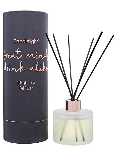 Candlelight 'Great Minds Drink Alike' Diffuser - Midnight Rose