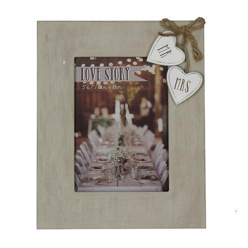 "Mr & Mrs Photo Frame - 5"" x 7"""