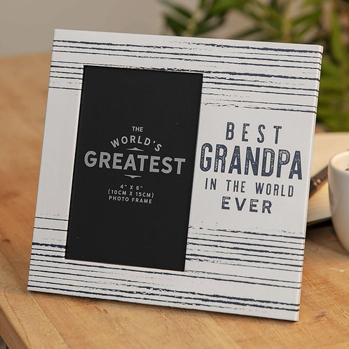 Best Grandpa In The World Photo Frame