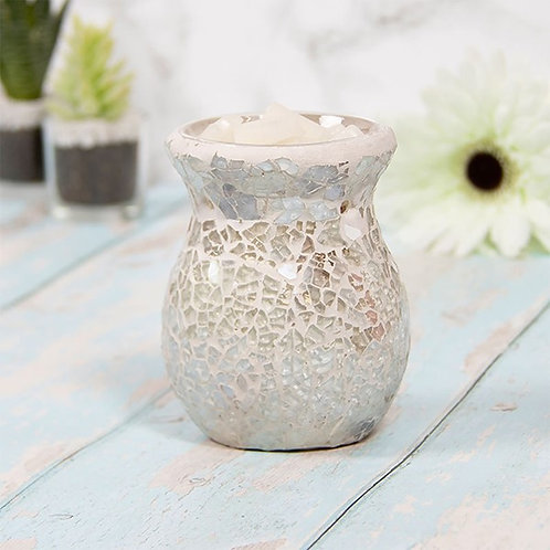 Mosaic Oil/Wax Warmer - Pearl