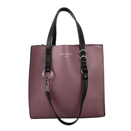 Red Cuckoo - Purple Contrast Handle Shopper