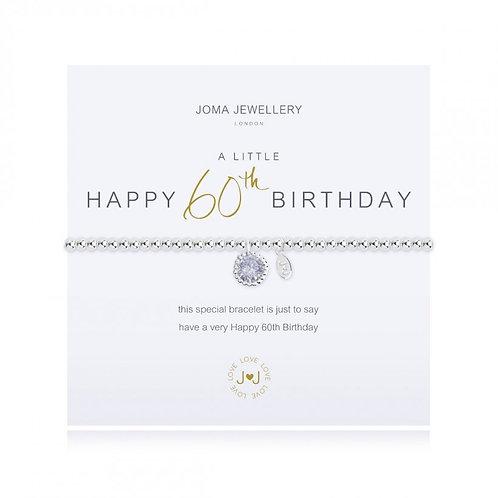 Joma Jewellery - 'A Little' 60th Birthday bracelet