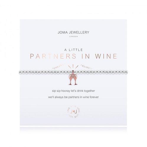 Joma Jewellery - 'A Little' Partners In Wine Bracelet