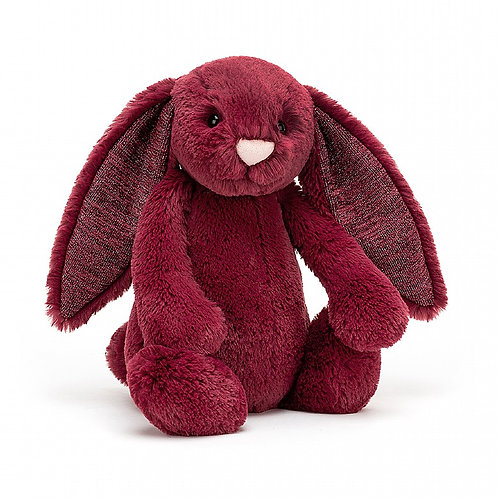 Jellycat - Bashful Sparkly Cassis Bunny (Med)