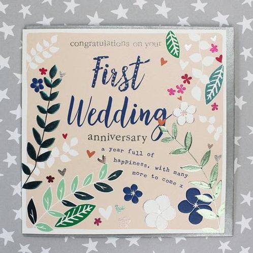 1st Wedding Anniversary - Anniversary Card