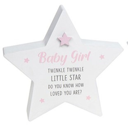 Twinkle Twinkle - Baby Girl Star Block