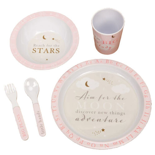 Aim For The Stars - 5 Piece Melamine Tableware Set