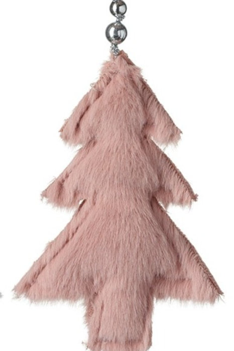 Pink Furry Tree Hanging Decoration