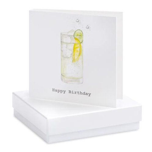 Happy Birthday - Sterling Silver Earrings Boxed Card