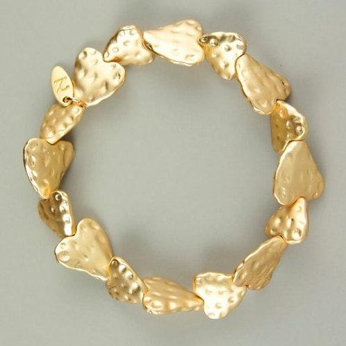 Petra - Matt Gold Heart Bracelet