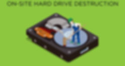 hard drive destruction illustration