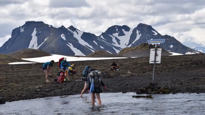 Refreshing glacial river