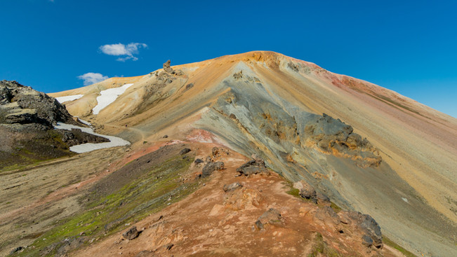 Colorful Rhyolite rocks