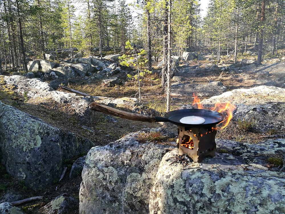 Pancakes on Grumpy Stove - Feast in the Wild