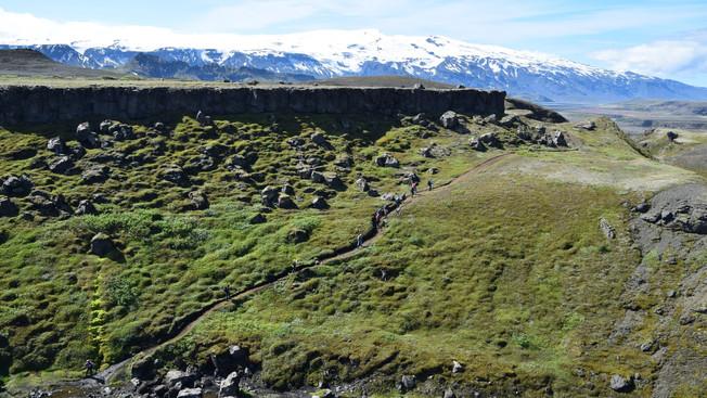 Getting close to Þórsmörk valley