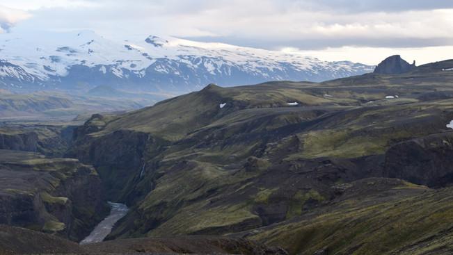 Overlooking Eyjafjallajökull