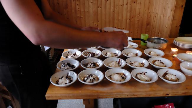 Making dessert