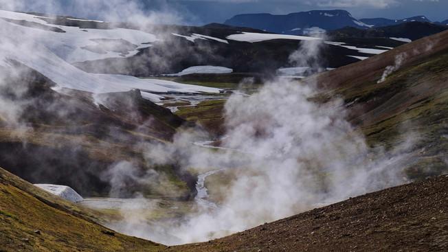 Geothermal activity in Landmannalaugar